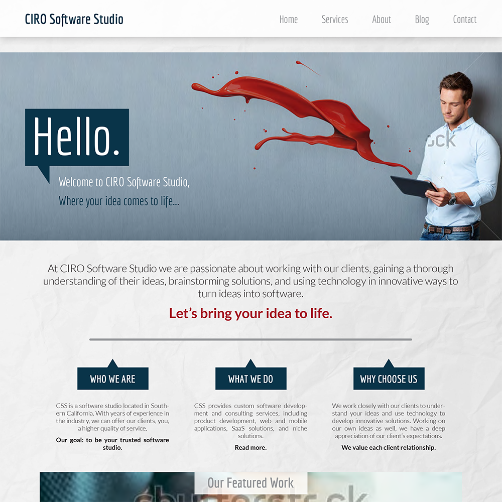 CIRO Software Studio - Concept