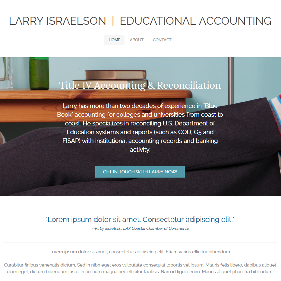 Larry Israelson Educational Accounting - Under Construction