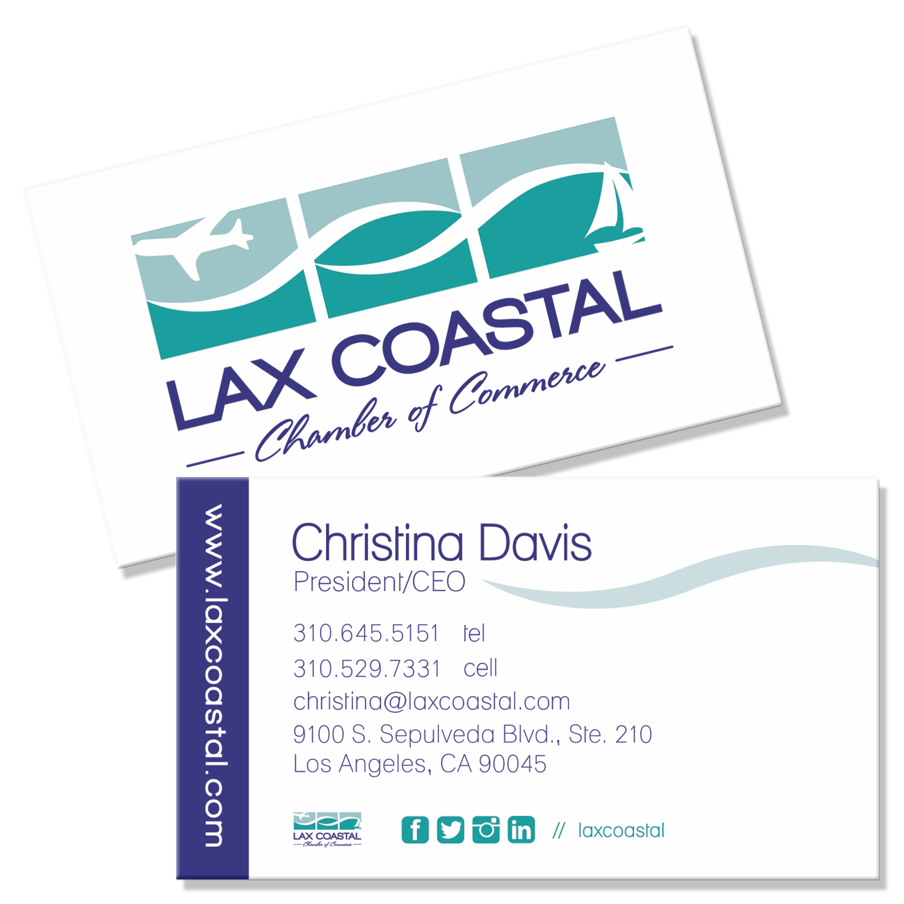 LAX Coastal Chamber Business Cards