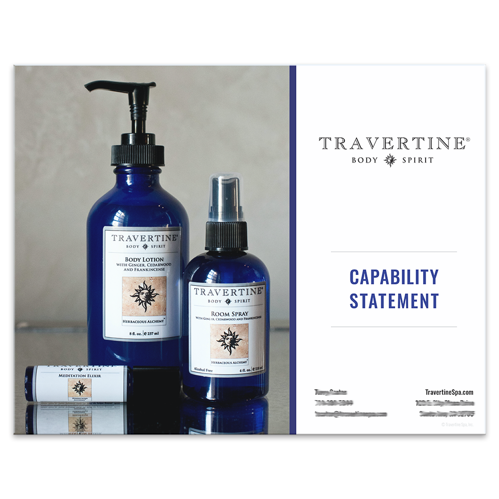 Travertine Spa Capability Statement